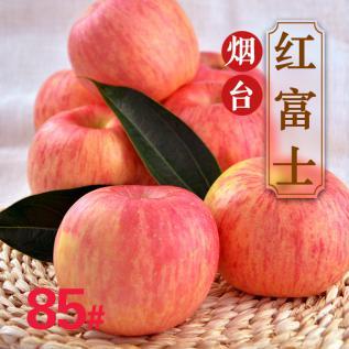 烟台苹果栖霞红富士85#5斤